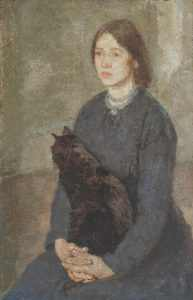 Young Woman Holding a Black Cat c.1920-5 Gwen John 1876-1939 Purchased 1946 http://www.tate.org.uk/art/work/N05744